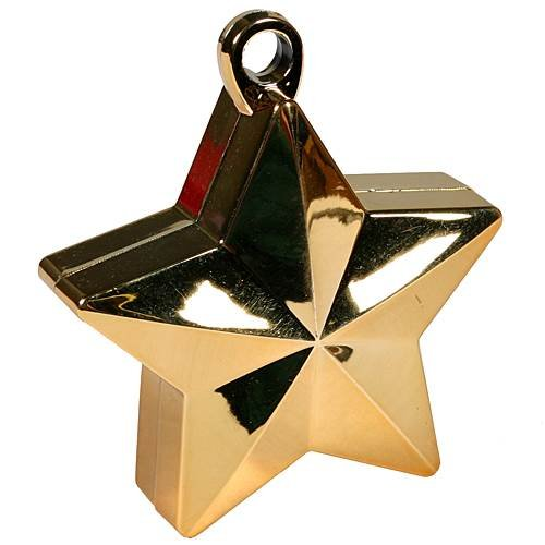 Shindigz Star Balloon Weights Gold Package of 6