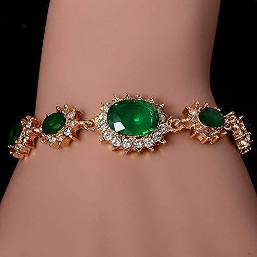 Hemau Gorgeous Fashion Jewelry 1 pc 18K Gold Plated Colorful CZ Crystal Cuff Bracelet | Model BRCLT - 13782 |