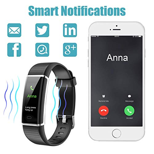 Letsfit Fitness Screen, Heart Rate Monitor Watch, Watch Step Counter Calorie Sleep Activity Tracker
