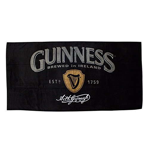 guinness-brewery-harp-logo-cotton-beach-bath-towel