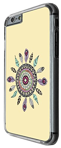 1256 - Cool Fun Trendy cute feathers aztec indian colourful Design iphone 6 6S 4.7'' Coque Fashion Trend Case Coque Protection Cover plastique et métal - Clear