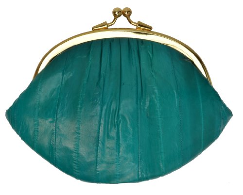 Purse Eel Skin (Eel Skin Coin Purse Change Purse (Teal))