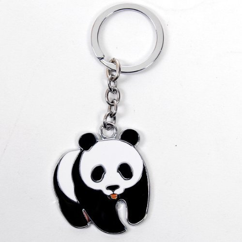 Adorable chinois Panda en métal Porte-clés Anneau porte-clés