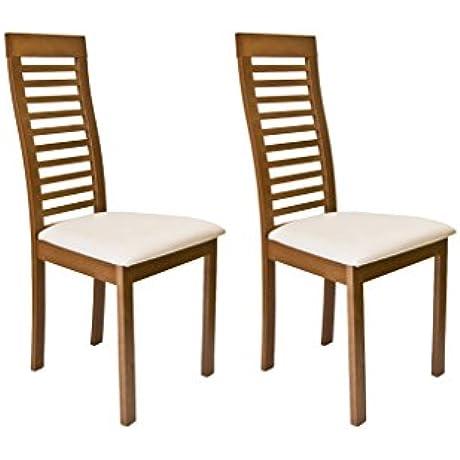 Denver Dining Chair In Walnut Finish Set Of 2