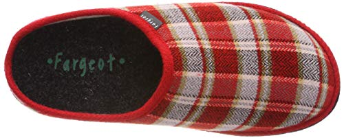 Mules Saxon Rouge 42 Femme Chaussons 7620030 Fargeot rot ETfq6xnw