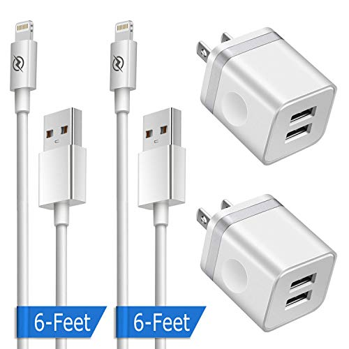 Phone Charger 6ft with Wall Plug (4in1