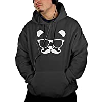 Panda Nerd With Glasses Men's Cool Long Sleeve Sweater