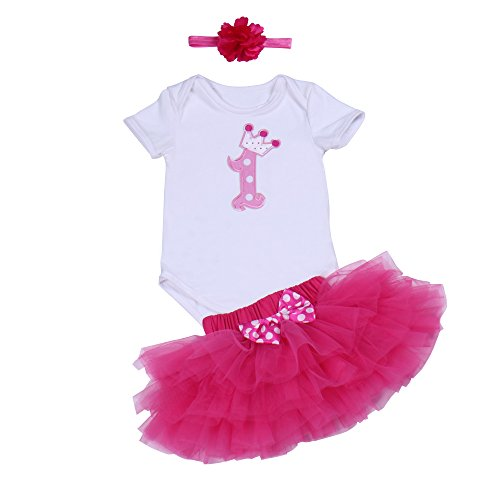 e0a5642aa BabyPreg Baby Girls 1st Birthday Tutu with Headband Set - Buy Online in  Oman. | Clothing Products in Oman - See Prices, Reviews and Free Delivery  in Muscat, ...