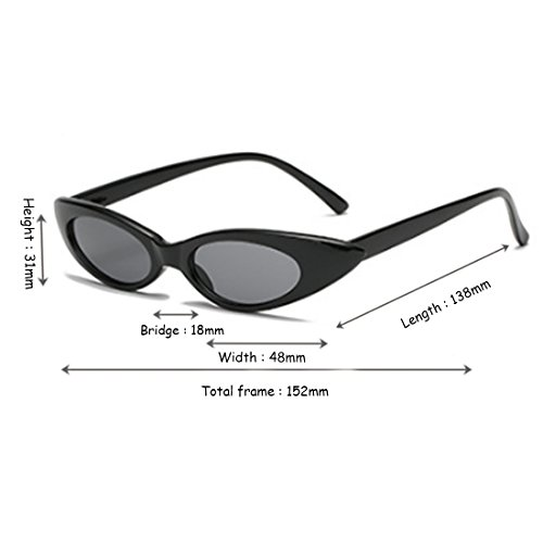 Designer y Negro Hombres pequeñas Cenizas Aiweijia Cat sol de Gafas sol Gafas de vintage Oval mujeres OS55HZq