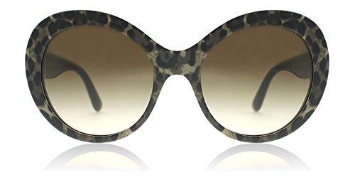Dolce & Gabbana Women's Acetate Woman Round Sunglasses, Leoprint, 57 - & Gabana Glasses Dolce