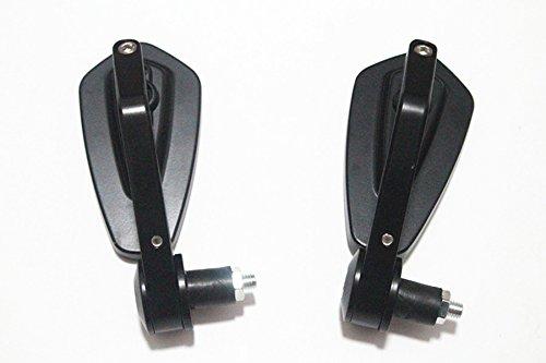 perfk 2 Pcs Specchi Retrovisori Posteriore Manopola Manubrio 22mm 7//8 Moto Cafe Racer