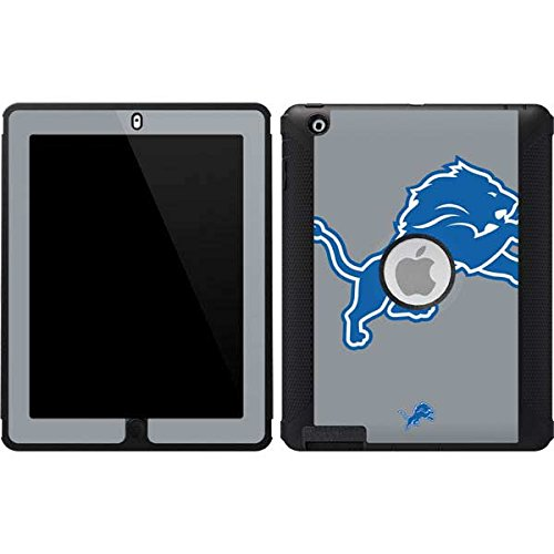 Skinit Detroit Lions Large Logo OtterBox Defender iPad 2/3/4th Gen Skin for CASE - Officially Licensed NFL Skin for Popular Cases Decal - Ultra Thin, Lightweight Vinyl Decal Protection