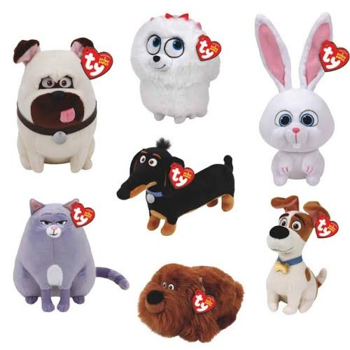Pets Complete Set - TY Beanie Babies Plush - Secret Life of Pets Movie Soft Toys (Complete set of 7) by TY Beanie Babies