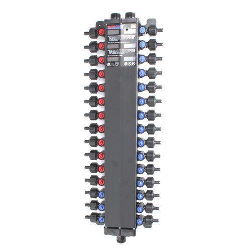 Viega 50303 1/2-Inch PureFlow Zero Lead Poly Alloy PEX Crimp Manabloc With 30 Ports - 12 Hot 18 Cold by Viega