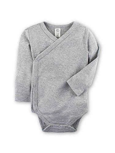 Colored Organics Baby Organic Kimono Bodysuit Long Sleeve Newborn 0-3 Months (Kimono Long Sleeve Onesie)