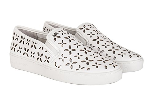 MICHAEL KORS CALZATURE SLIP ON DONNA 43T6KTFP 2L 898 OPT-SILVER PE17