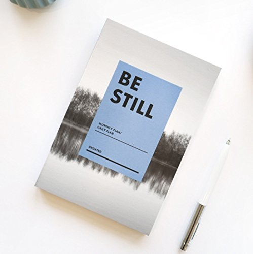 BE STILL Undated Monthly Daily Planner with Coloring postcard (Still Water)