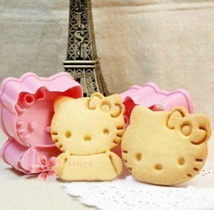 1 Set Cute Kitty Cat Design Baking Cookie Fondant Cake SugarCraft Biscuit Chocolate Clays DIY Modelling Paste Decorating Plunger Cutter Stamp Pull Press Mold Tools Tool