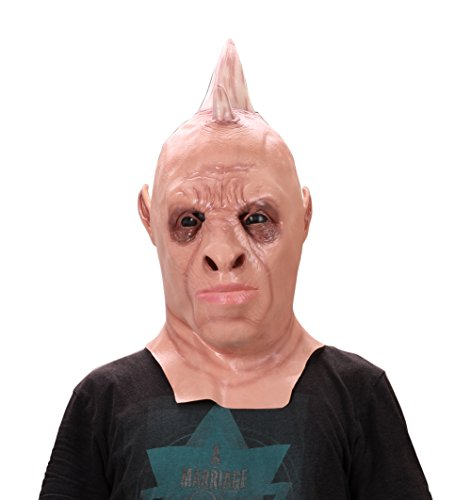 [ProEtrade Halloween Costume Cosplay Latex Ghost Scary Pumpkin Werewolf Mask (Rhinoceros)] (Easy Scary Costumes)