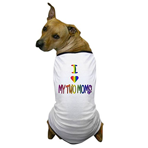 CafePress – I Heart My 2 Moms – Dog T-Shirt, Pet Clothing, Funny Dog Costume For Sale