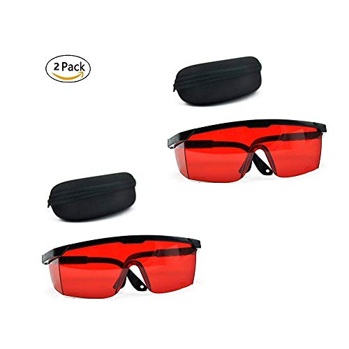 GOSONO Red Goggles Laser Safety Glasses 190nm to 540nm Laser protective eyewear With Velvet Box]()