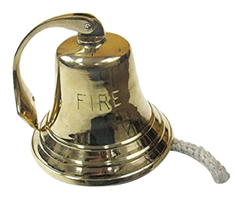 Iotc Br18452F, Solid Brass Bracket Fire Bell 8 - Nauctical Décor ITDC BR 7569
