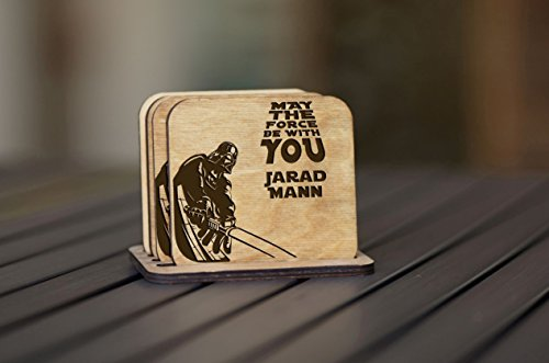 Personalized Coasters - Set of 4 - Star Wars (My Ray Ban)