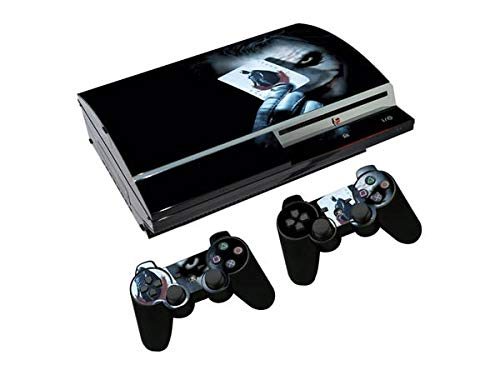 Scary Clown Playstation 3 Skin Set Vinyl Skin Decal Sticker Protective Cover for PS3 Fat Console and 2 PS3 Controller by Mr Wonderful Skin]()