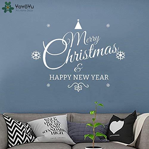 zxddzl Etiqueta de la Pared Feliz Navidad Feliz Año Nuevo ...