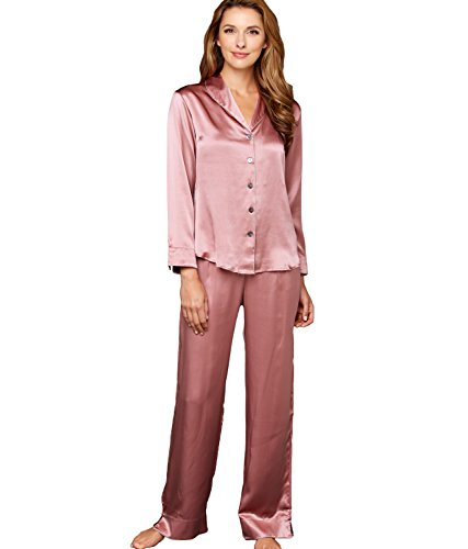 Julianna Rae Natalya Women's 100% Silk Pajamas, Petite, Kirsch, MP by Julianna Rae