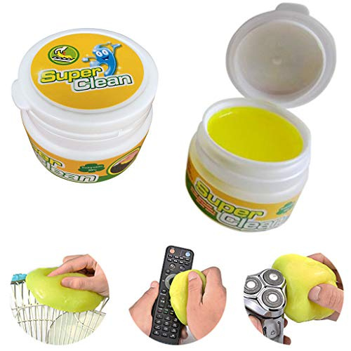 FANORAD Magic Clean Clay Universal Cleaning Sludge Glue Dust Removal Glue Keyboard Cleaning Mud Soft Gel Yellow (Yellow, 1 PC)