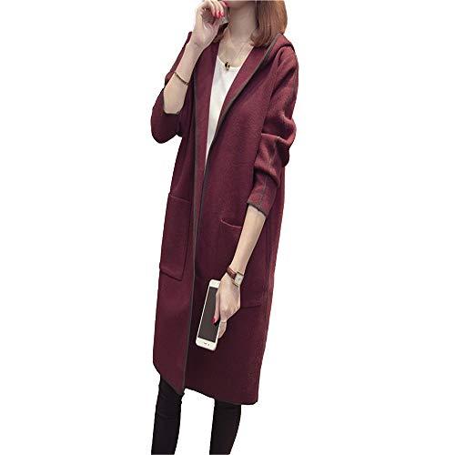 Longue Femme Hooded Veste Shirloy Warm Coat Knitwear POwIIqR