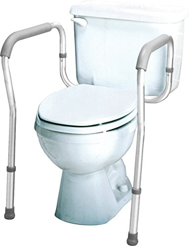 Carex Health Brands Carex Toilet Safety Frame, Steel Support Frame with Adjustable Width, for Assistance and Support Sitting and Standing while Using ()