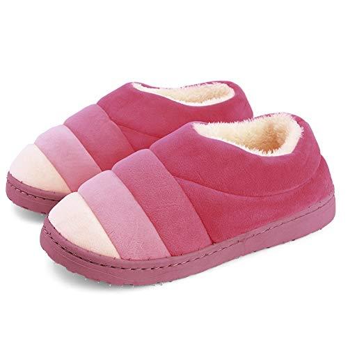 Brown Antiscivolo Caldo Pattini Tingting Sfumato Pacco Mantieni Dimensioni  colore Pantofole Morbido Red 45 Cotone Ciabatte ... 3eb017671f5