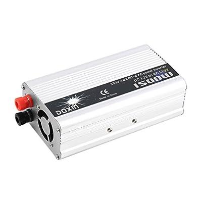 Goldlion66 1500W Car Power Inverter DC 12V to 110V AC Converter Car Cigarette Lighter Modified Modified Sine Wave
