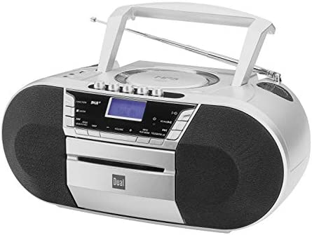 Dual Dab P 200 Kassettenradio Mit Cd Dab Ukw Radio Boombox Cd Player Stereo Lautsprecher Usb Anschluss Aux Eingang Netz Batteriebetrieb Tragbar Silber Heimkino Tv Video