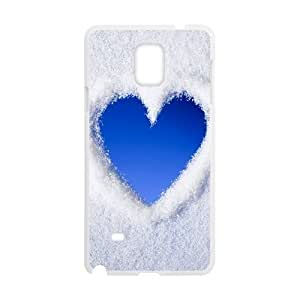 Vety Blue Love Heart of Snow Samsung Galaxy Note 4 Cases, {White}
