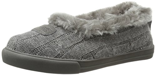 Skechers Mad Crush Snuggle In - Zapatillas de Estar Por Casa de otras pieles mujer Charcoal Knit