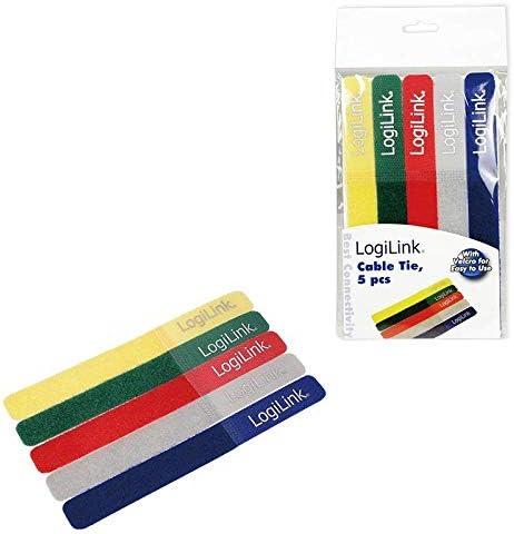 LogiLink KAB0008 Pack de 5 Attache-c/âbles Multicolore