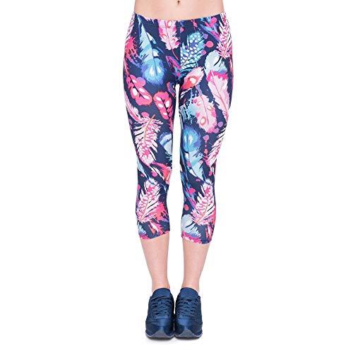 Forme Fashion Laisla Impression Plumes 4 Mollet 3 Capri Garçons Mi Pantalons De Exercice Pantalon Yoga Été Femmes Leggings Couleur Remise Lgc45782 Classique En Rgzgqdwnr