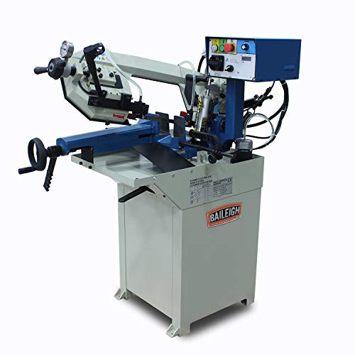 Baileigh BS-210M Hydraulic Horizontal Band Saw, 110V, 1hp Motor, 3 4 Blade, 6-3 4 Round Capacity