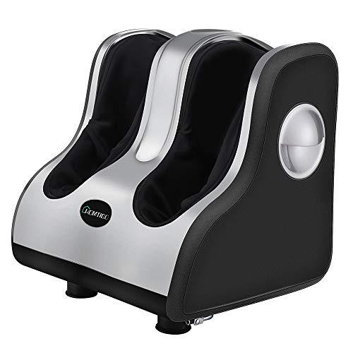 Great Foot Massager Homtigo Foot & Calf Massager, Shiatsu Foot Massager for Restless Legs Plantar Fasciitis Massager with Heat for Better Circulation, Extended Height, Adjustable Tilt Base 2019