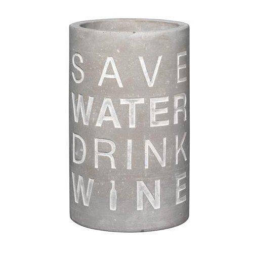 P.e.T. Vino Beton Weinkühler Save water ca 21 cm hoch