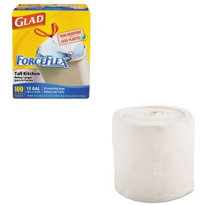 KITCOX70427TXLL101 - Value Kit - Gymwipes Anti-Bacterial Wipes Refill (TXLL101) and Glad ForceFlex Tall-Kitchen Drawstring Bags (COX70427)