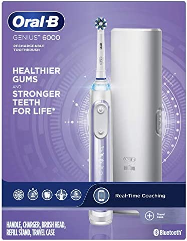 Oral-B Pro 6000 Smart Series Power Rechargeable Electric Toothbrush, Orchid Purple