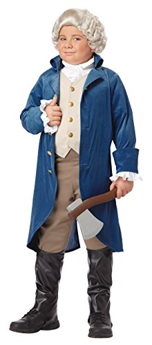 California Costumes George Washington/Thomas Jefferson/Alexander Hamilton and Colonial Child Costume, -