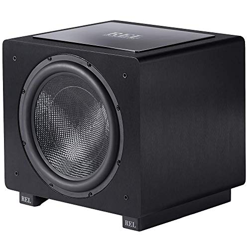 REL Acoustics HT/1508 Predator Subwoofer, HT-Air Wireless Compatible, Black Vinyl