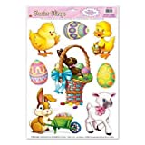 ZOOM001 6pk, Easter Animal Window Clings