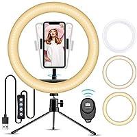 Doosl oświetlenie pierścieniowe ze statywem i pilotem zdalnego sterowania, możliwość przyciemniania do selfie na żywo…