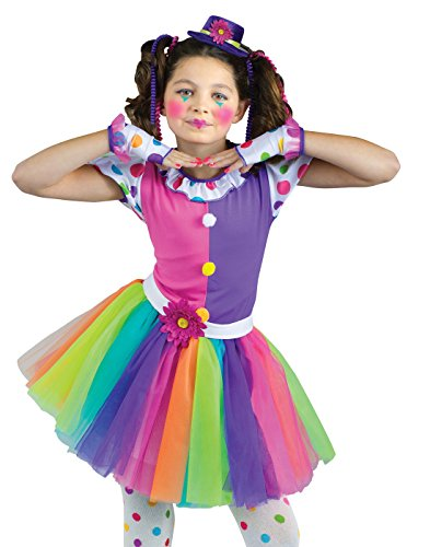 [Clownin Around Child Costume - Medium] (Girls Polka Dot Clown Costumes)